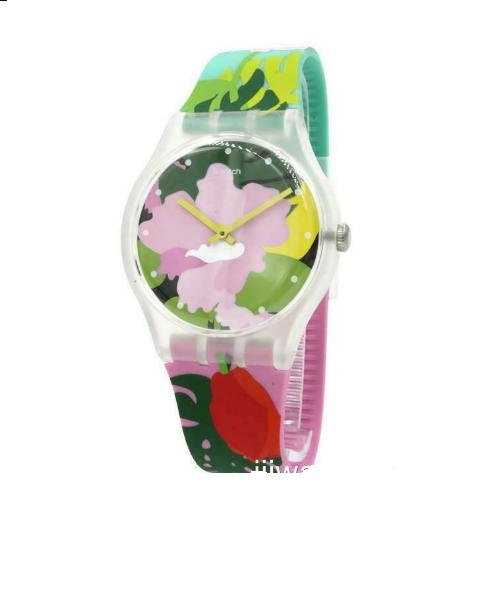 Relógio Swatch Feminino  Estampado -Tropical Garden - SUOK132