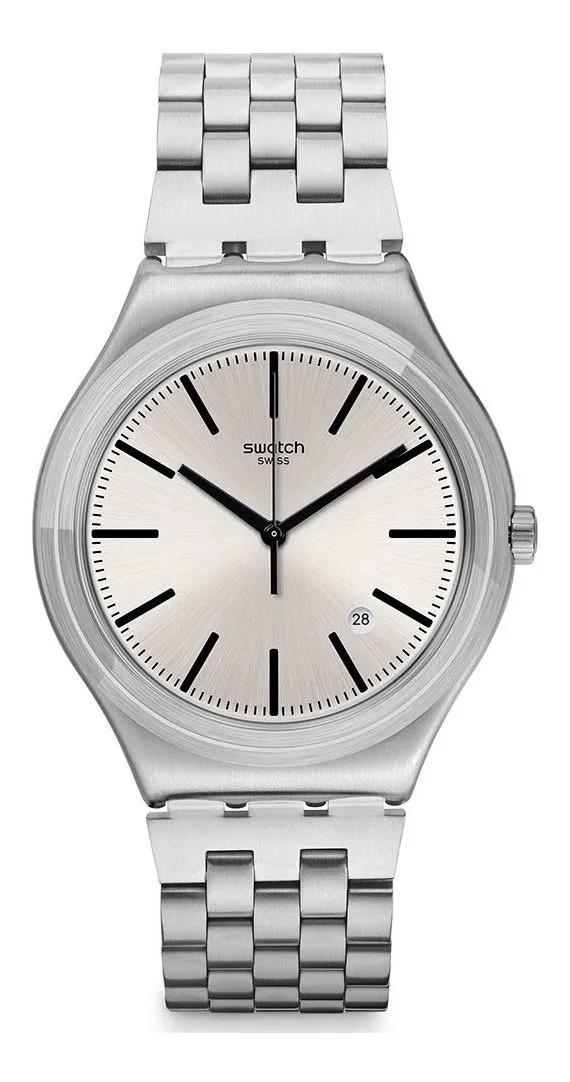 Relógio Swatch Unissex Prata -  Mon Quotidien - YWS429G