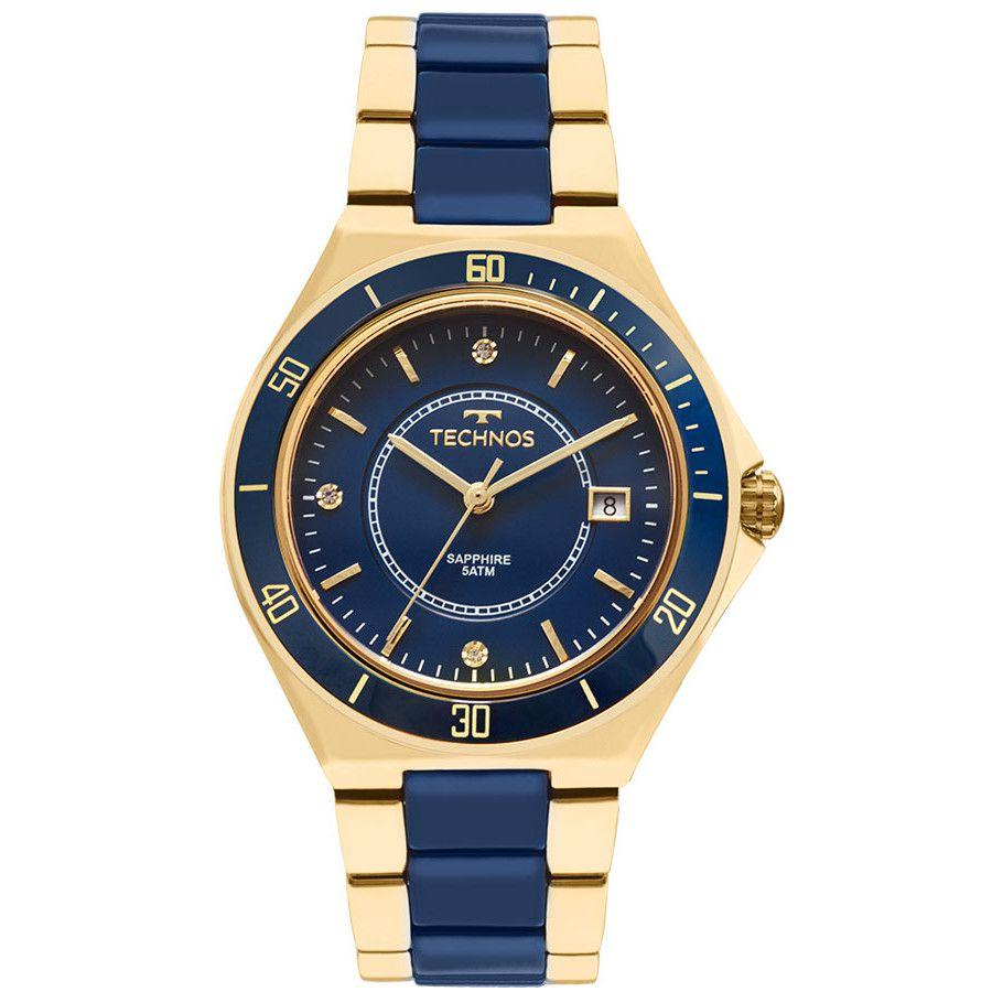 Relógio Technos Dourado Feminino Elegance
