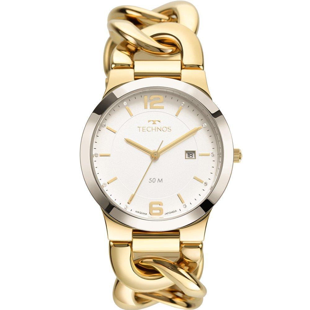 Relógio Technos Feminino  Bicolor - Elos - 2115MWF/1K