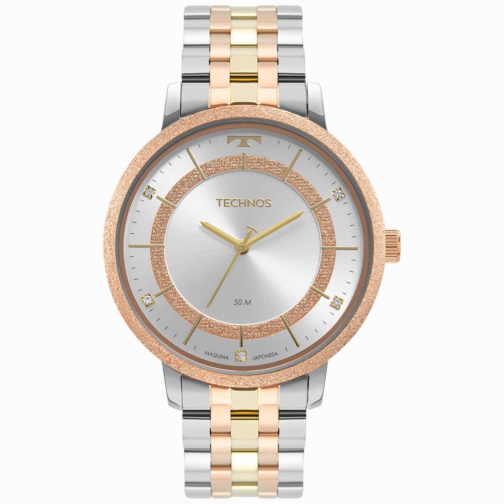 Relógio Technos Feminino Bicolor - Trend - 2035MTE/1K