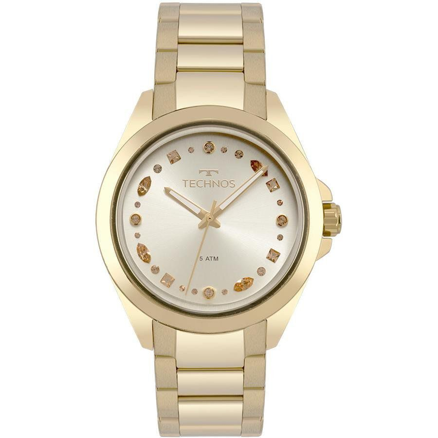Relógio Technos Feminino Dourado - Fashion Crystal - 203AAA/4D