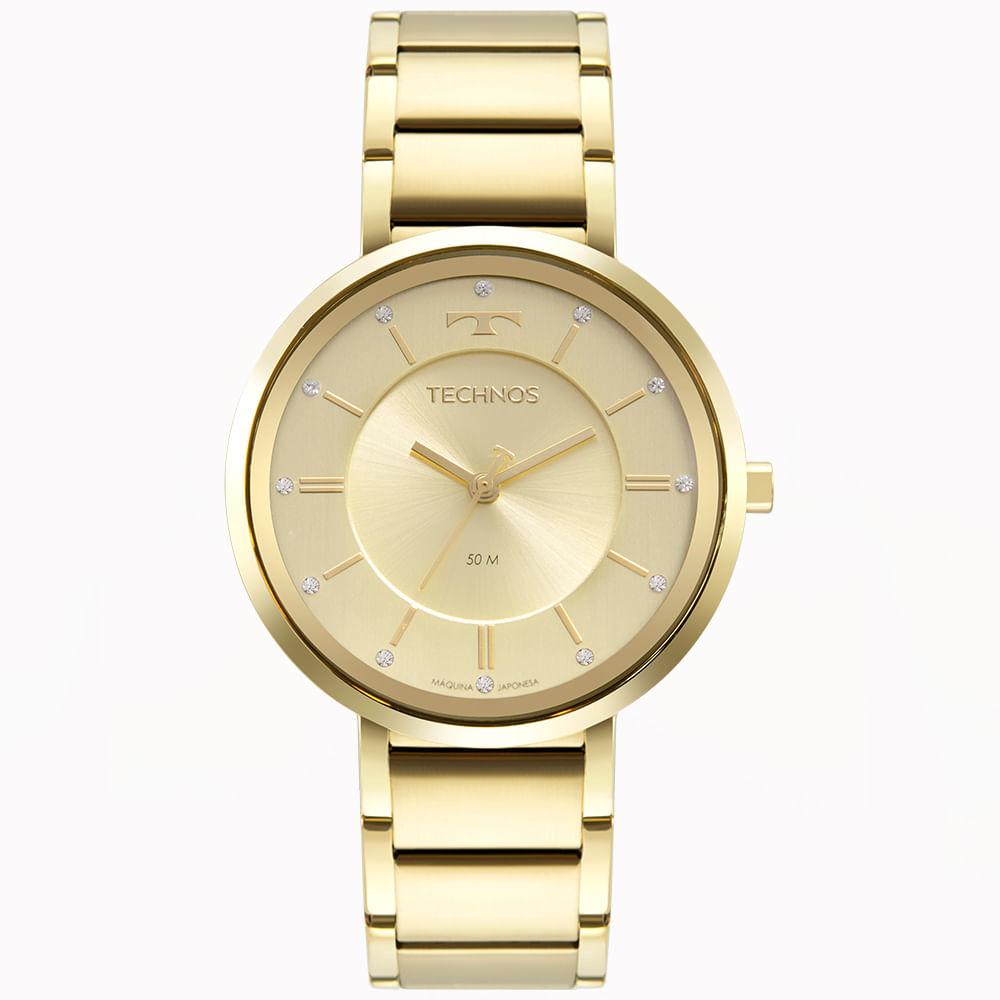 Relógio Technos Feminino Dourado - Brilho - 2035MTA/1D