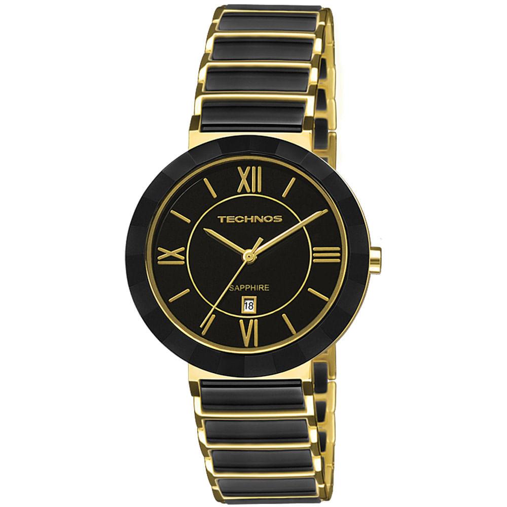 Relógio Technos Feminino Dourado - Sapphire - 2015CE/4P