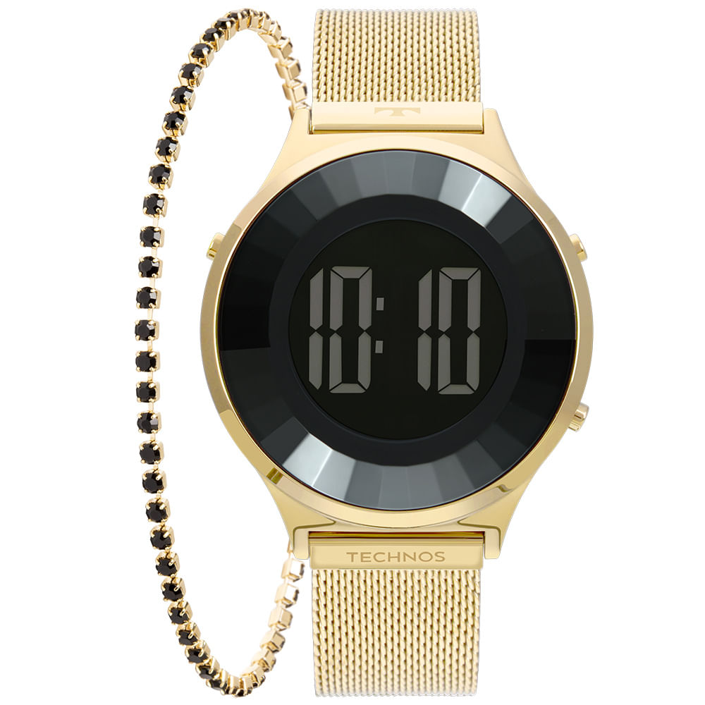 Relógio Technos Feminino Dourado - Digital - BJ3851AD/K4P