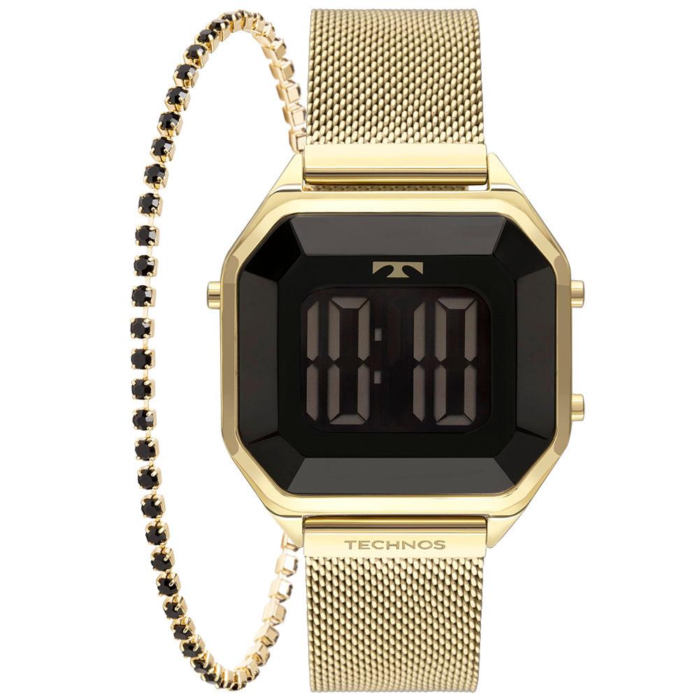 Relógio Technos Feminino Dourado - Digital - BJ3851AJ/K4P
