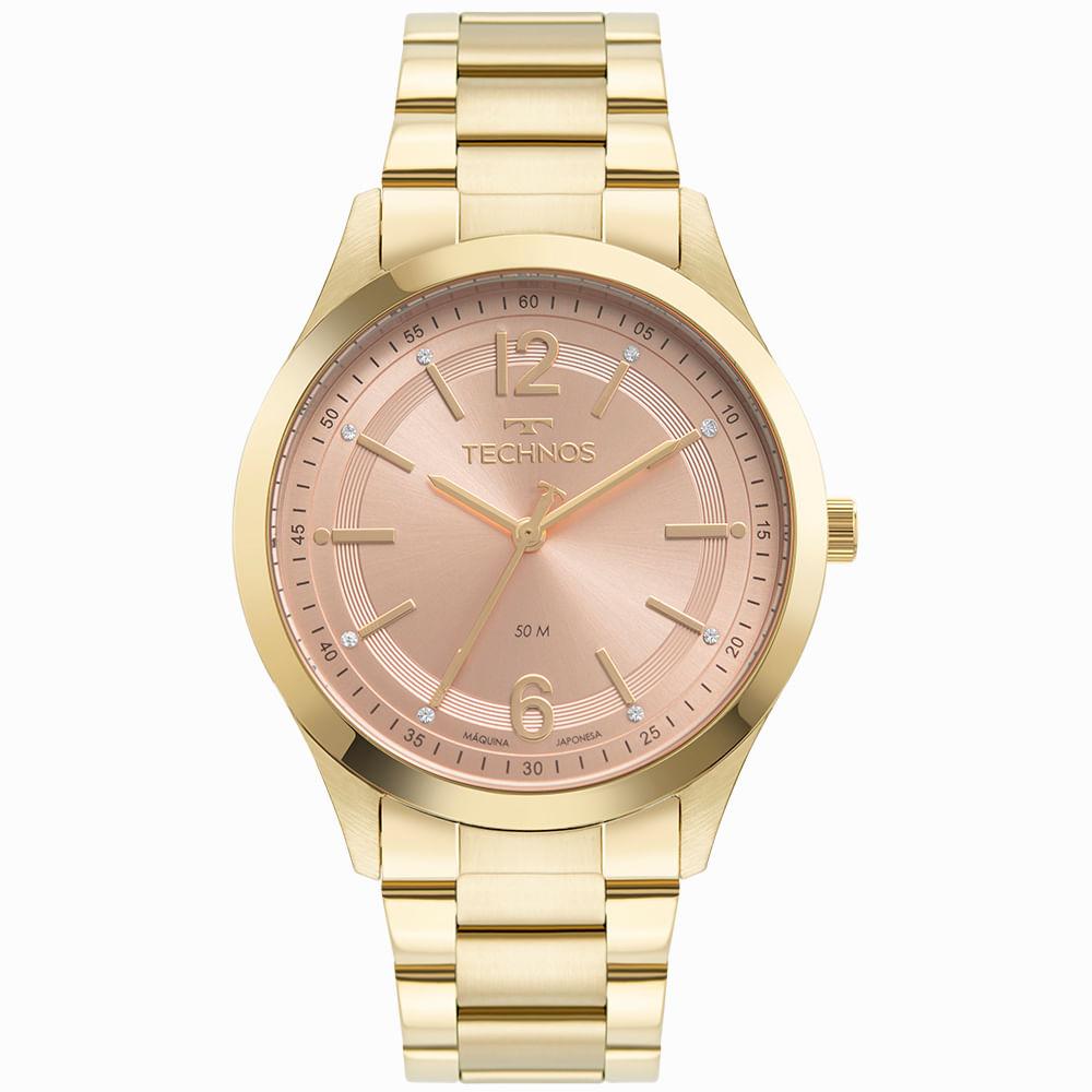 Relógio Technos Feminino Dourado - Dress - 2036MNK/1T