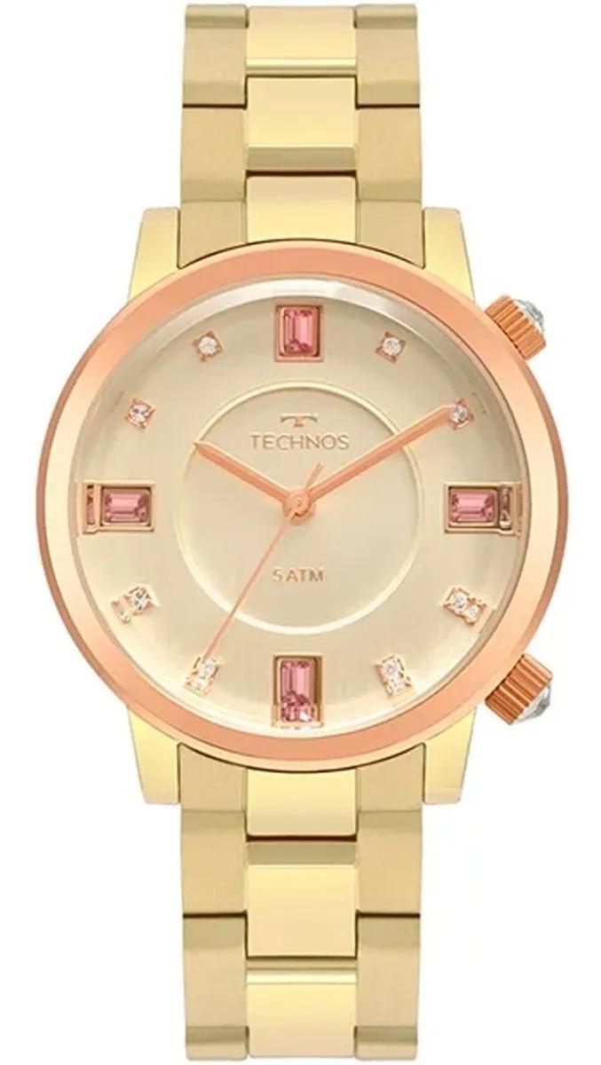 Relógio Technos Feminino Dourado - Elegance Crystals - 2039CT/1D