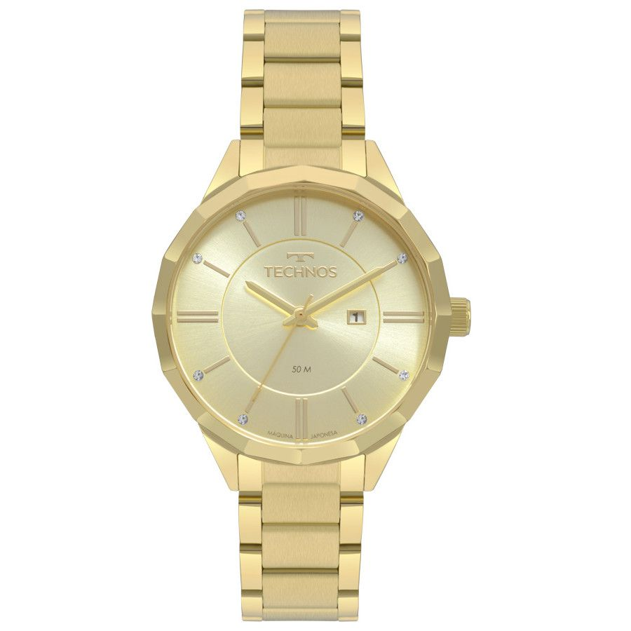 Relógio Technos Feminino Dourado Fashion Trend