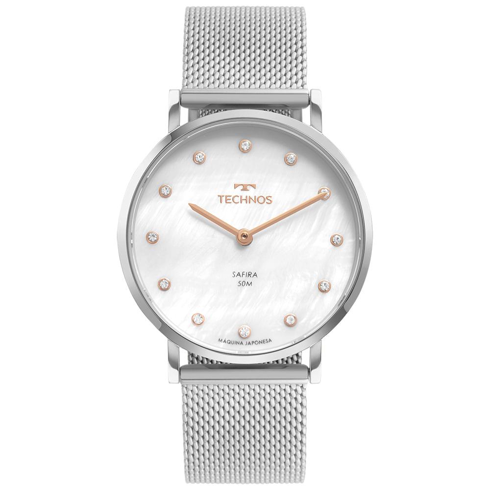 Relógio Technos Feminino Prata - Slim - 2025LTT/1B
