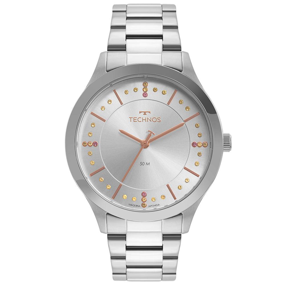 Relógio Technos Feminino Prata - Trend - 2036MNJ/1T