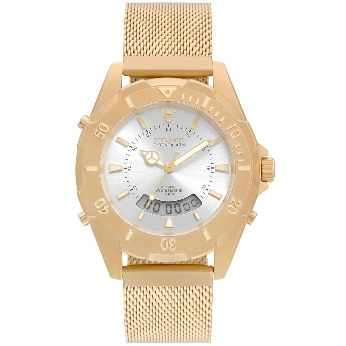Relógio Technos Unissex Dourado - Elegance Skydiver - T205JF/4K