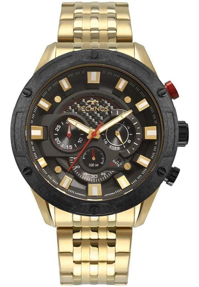 Relógio Technos Masculino Dourado - Carbon - JS25CE/4P