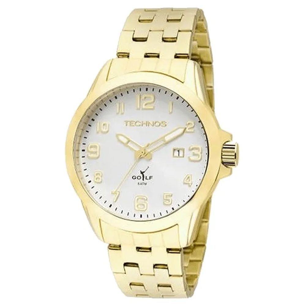 Relógio Technos Masculino Dourado - Classic Golf - 2115KNY/4K