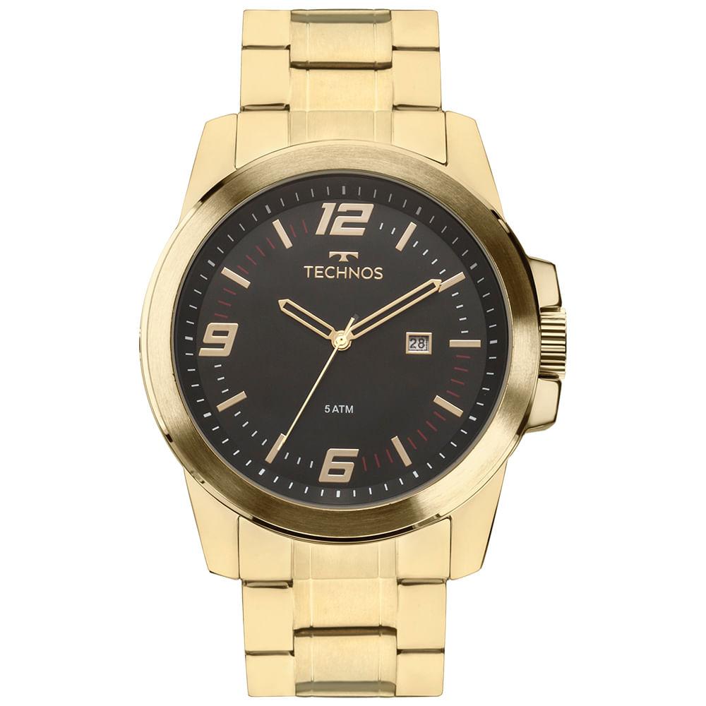 Relógio Technos Masculino Dourado - Racer - 2115MNZS/4P