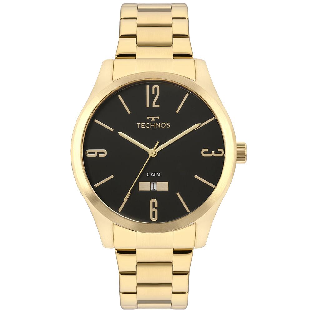 Relógio Technos Masculino Dourado - Steel - 2115MNWS/4P