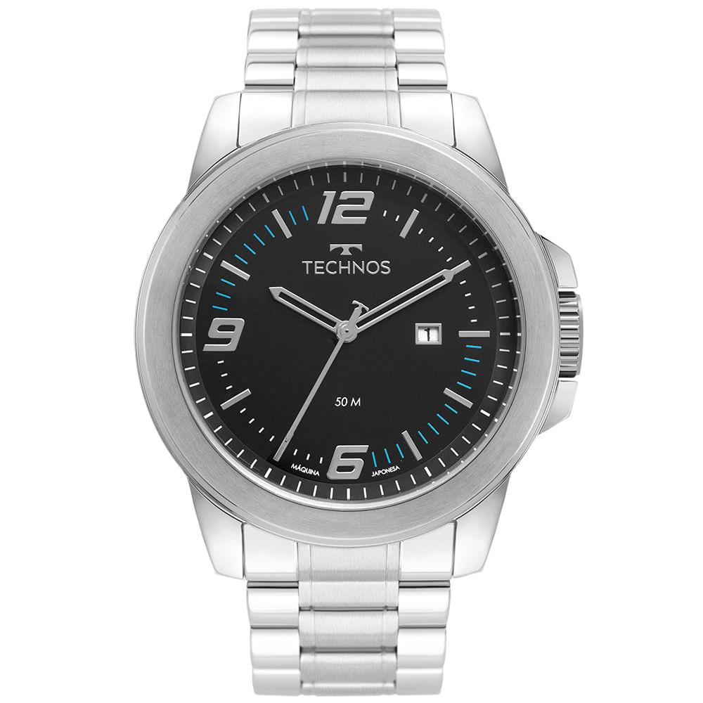 Relógio Technos Masculino Prata - Racer - 2115MNY/1A