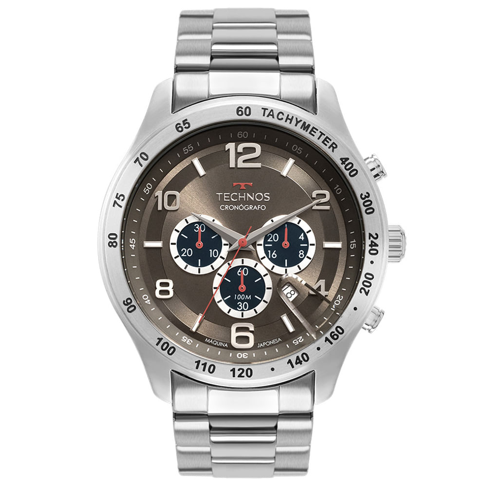 Relógio Technos Masculino Prata - Skymaster - JS25CG/1C