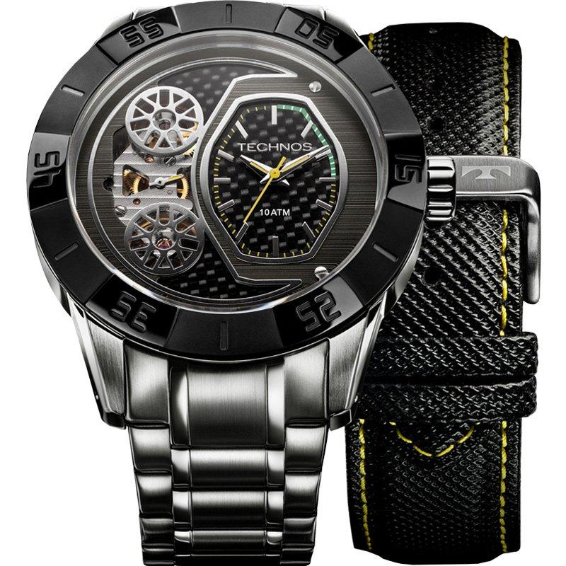 Relógio Technos Masculino Preto - Lendas do Podium - 2039AN/1P