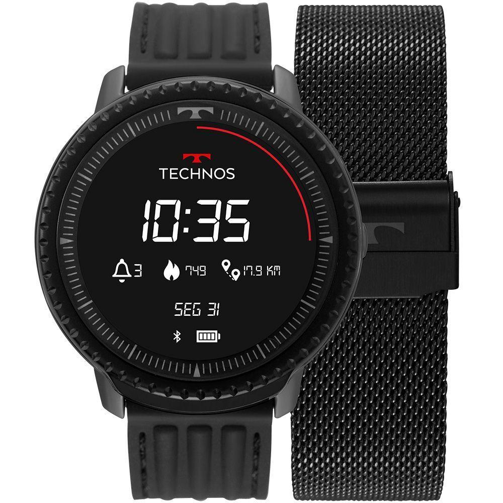 Relógio Technos Masculino Preto - Smartwatch Connect - L5AA/1P