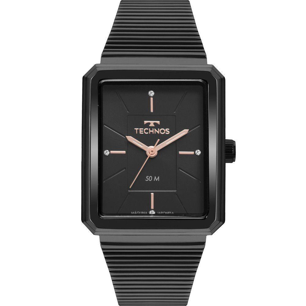 Relógio Technos  Feminino Preto - Classic Slim - 2035MRC/4P