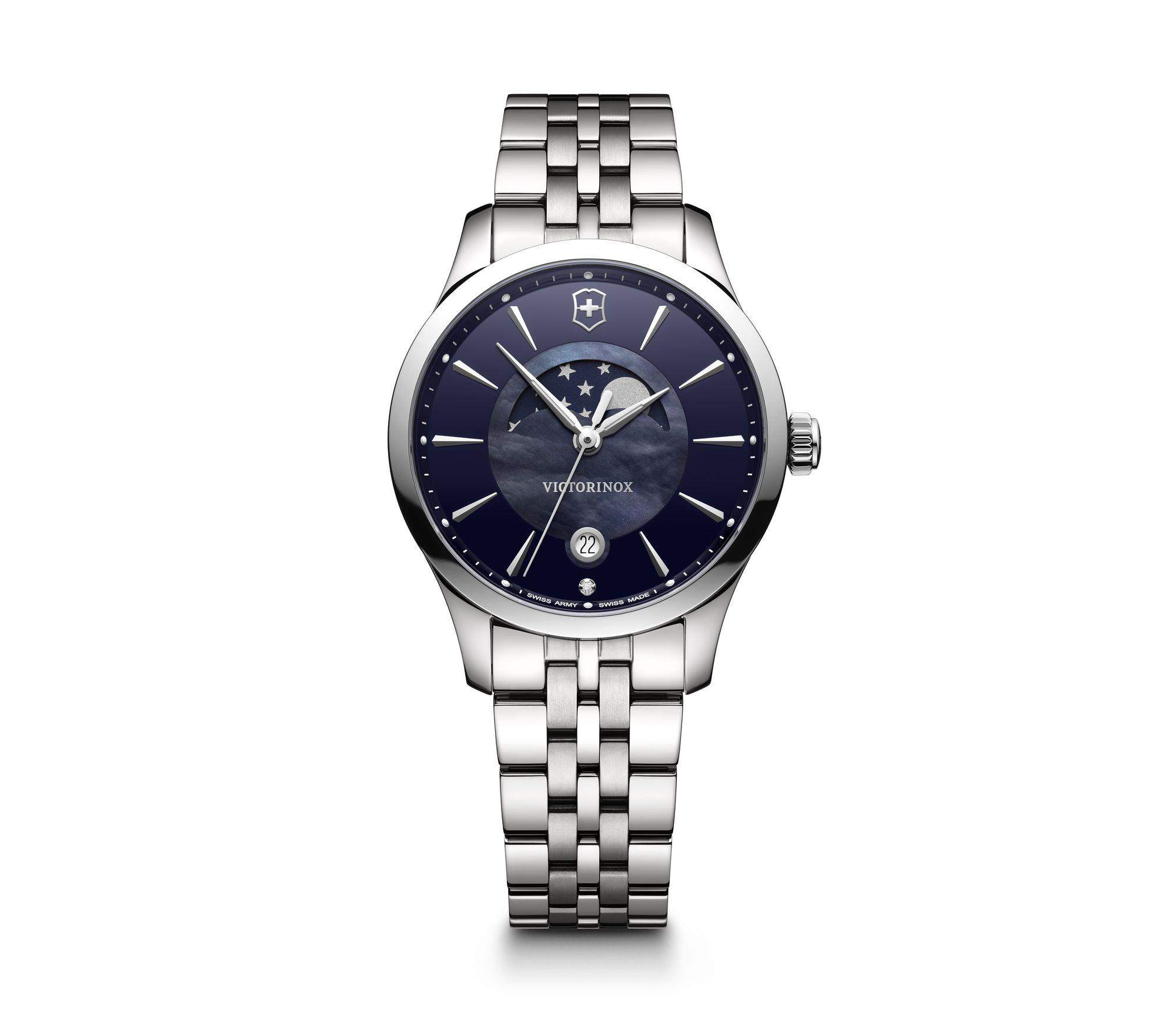 Relógio Victorinox Masculino Azul - Small Moon Phase - 241752