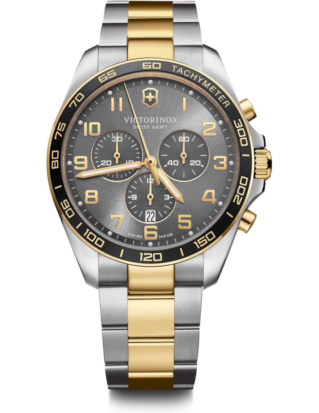 Relógio Victorinox Masculino Grafite - Fieldforce Classic Chronograph - 241902
