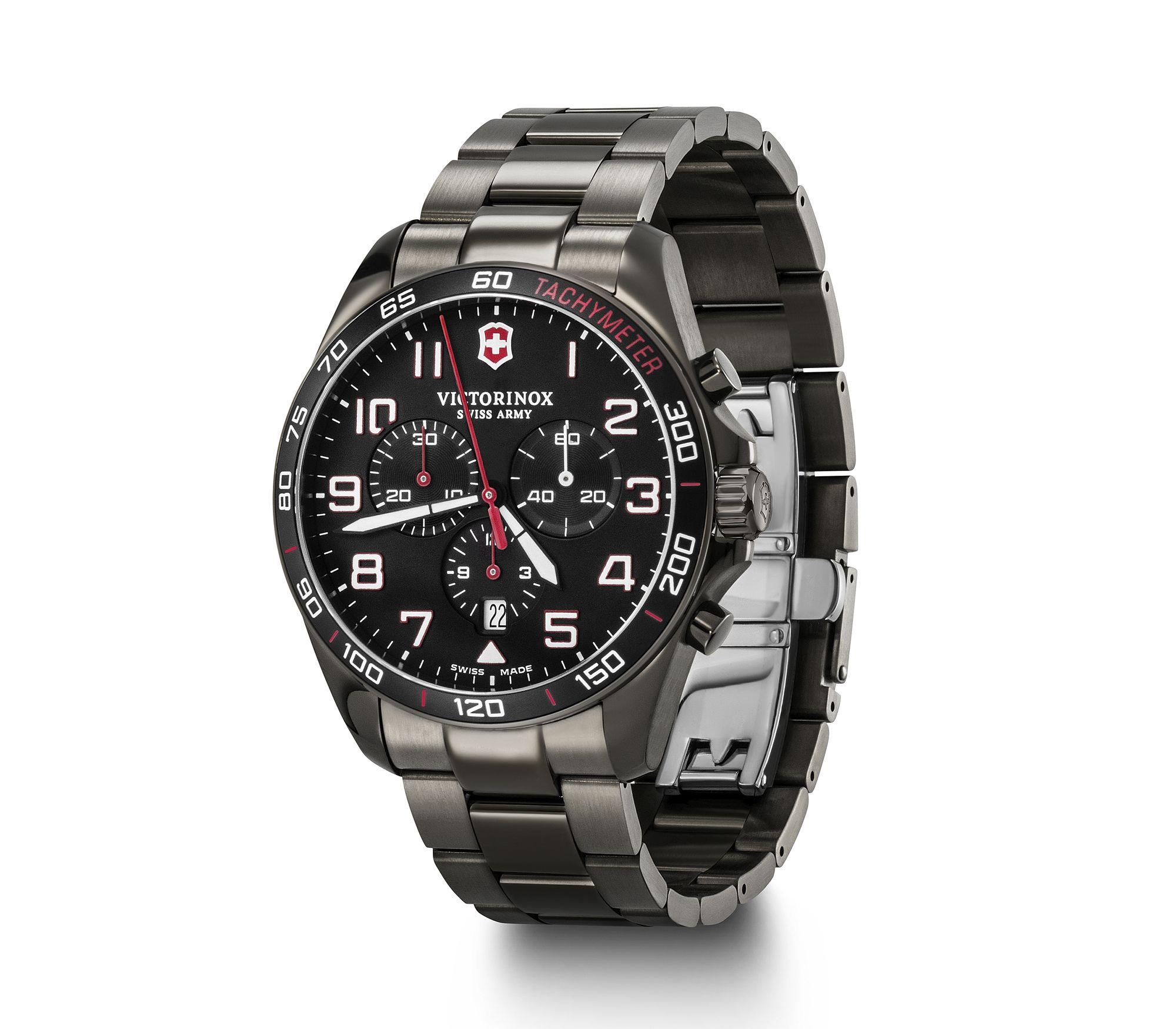 Relógio Victorinox Masculino Preto - Fieldforce Sport Chrono - 241890