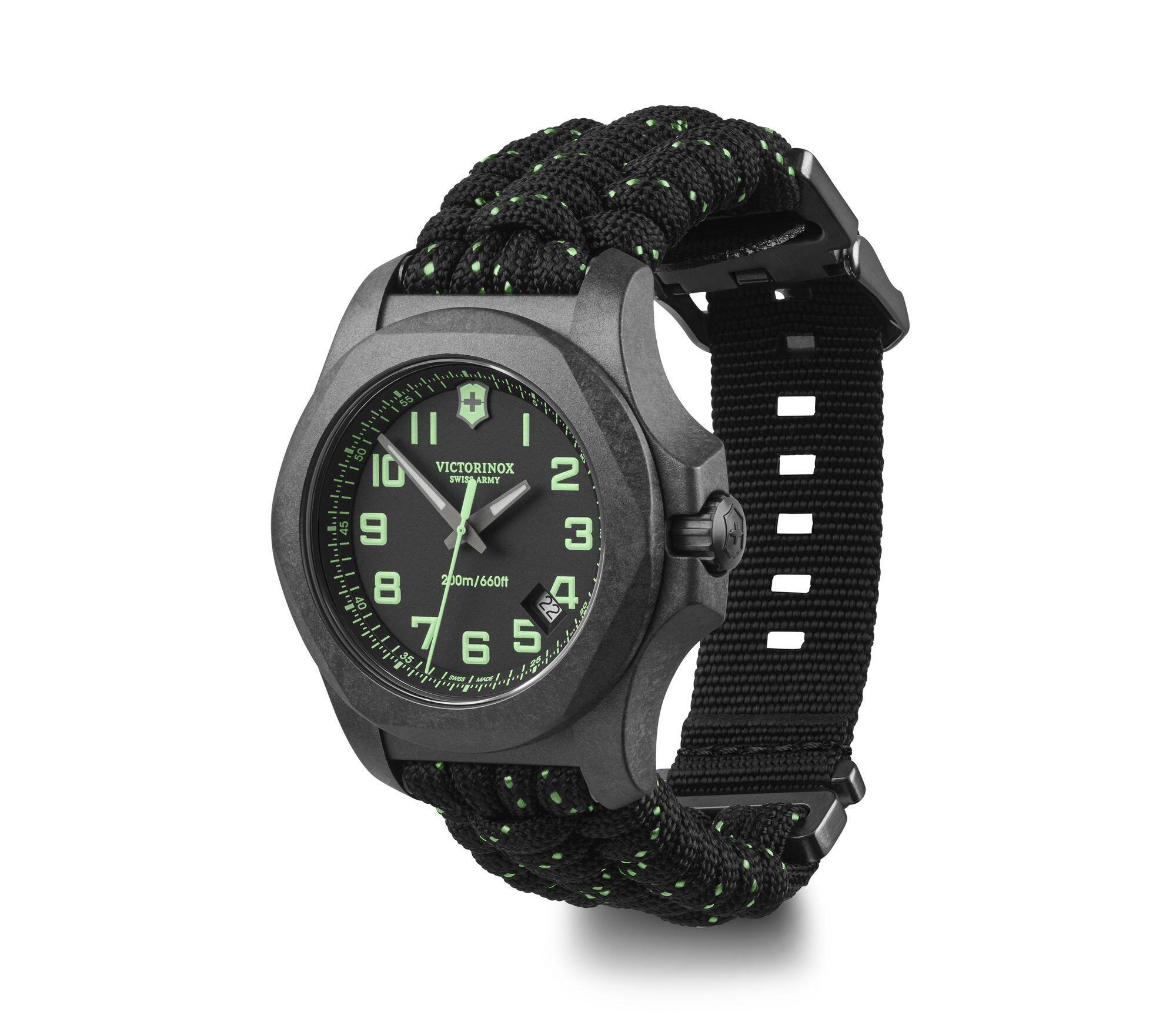 Relógio Victorinox Masculino Preto - VSA Inox Carbon - 241859