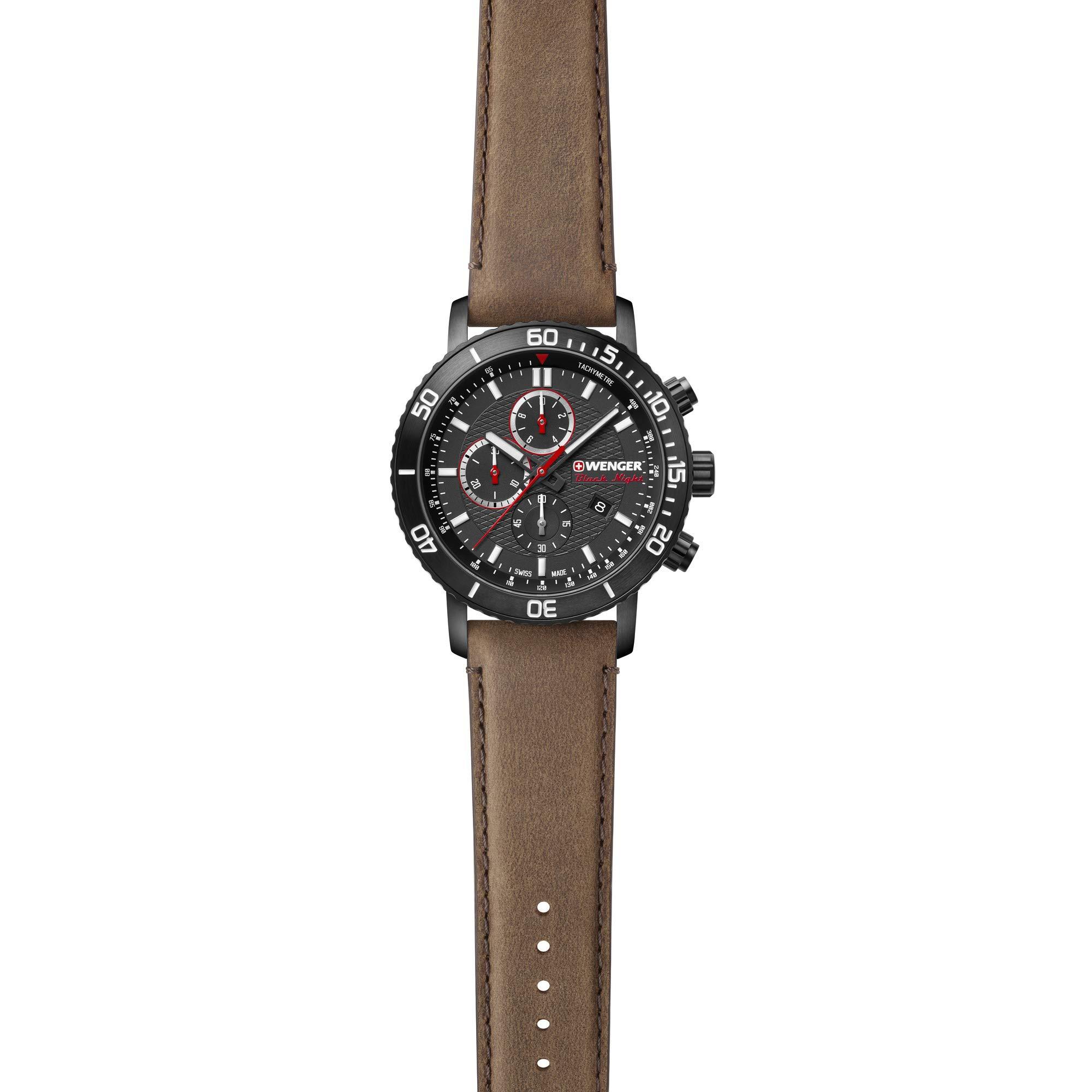 Relógio Wenger Masculino Marron - RoadSter Chrono - 01.1843.107