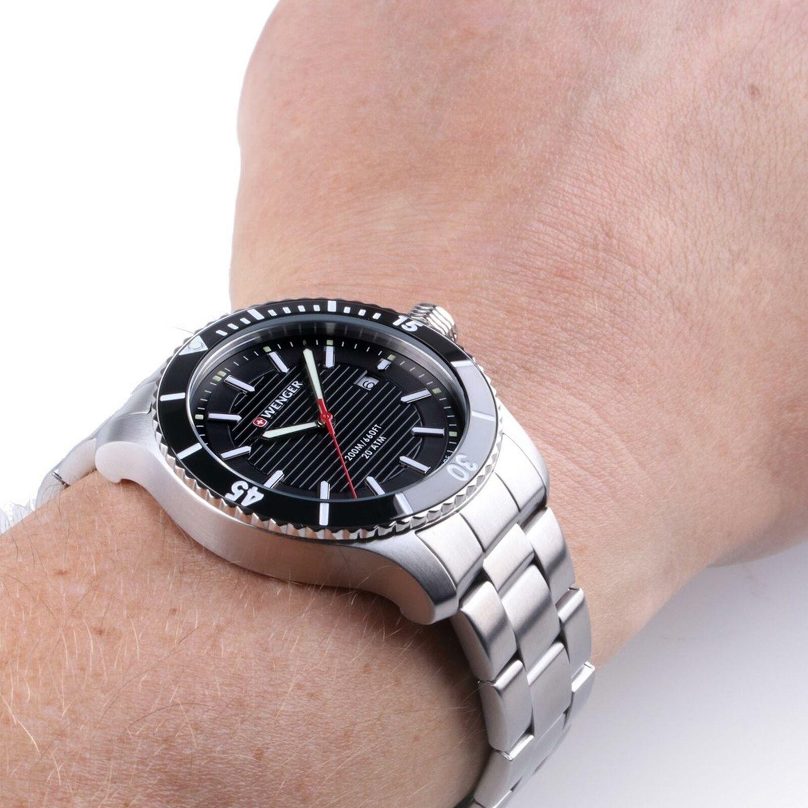Relógio Wenger Masculino preto - Seaforce - 01.0641.118