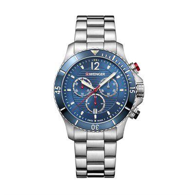 Relógio Wenger Masculino Prateado- SeaForce Chrono  - 01.063.111