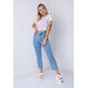 Calça Cropped Reta Pkd Jeans