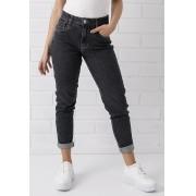 Calça Mom Jeans Black Com Elastano Kim Pkd