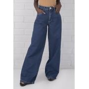 Calça Pantalona Jeans Escura Kendall Pkd