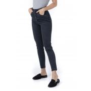 Calça Skinny Com Botões Encapados Black Pkd