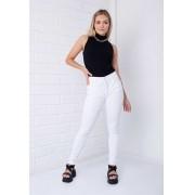 Calça Skinny Pkd Com Botões Encapados Branca