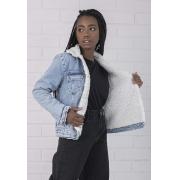 Jaqueta Jeans Com Forro de Pelo Alexa Pkd