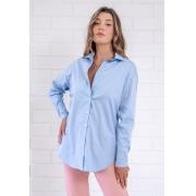 Maxi Camisa Julieta Azul Céu Pkd