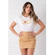 Maxi T-shirt Pkd Be Cool Be Kind Branca