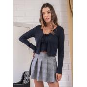 Mini Blusa Com Cardigan Tiffany Preto Pkd
