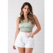 Shorts Pkd Barra Godê Branco