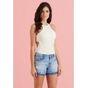 Shorts Pkd Jeans Barra Degrade