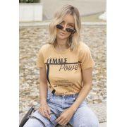 T-shirt Eco Pkd Female Power Amarela