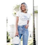 T-shirt Eco Pkd Tropical Off White