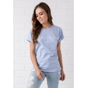 T-shirt Pkd Less Is More Azul Céu