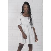 Vestido Curto Decote Quadrado Yuna Pkd Branco