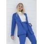 Blazer Feminino Alfaiataria Alongado Azul Ciara Pkd