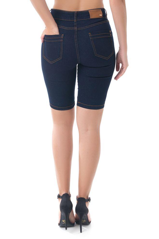 Bermuda Pkd Gancho Alto Jeans