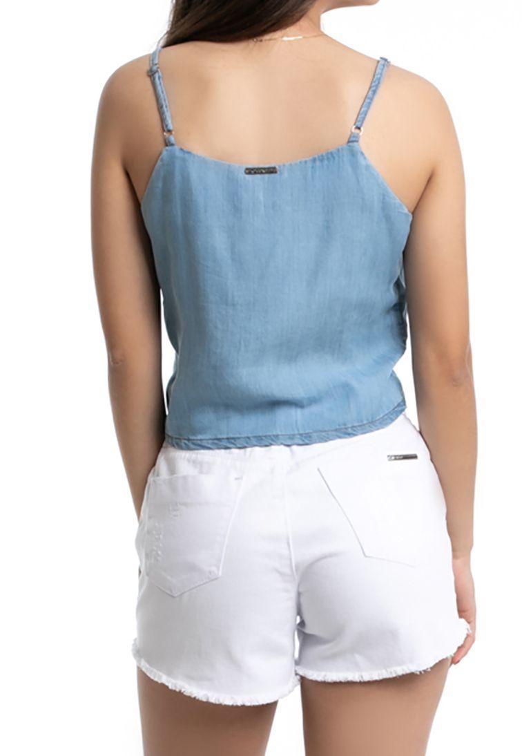 Blusa Pkd Com Amarração Jeans